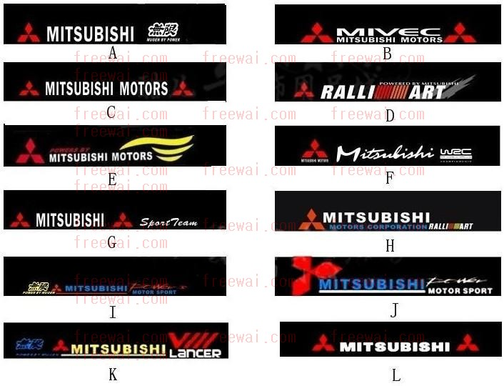 Front Windshield Reflective Sticker For Mitsubishi Lancer