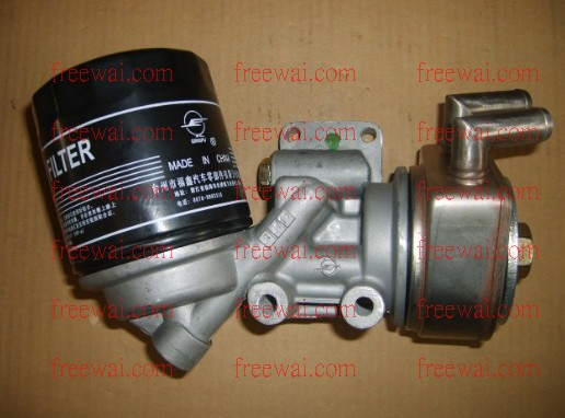 Diesel Engine Fuel Filter Assembly : Oil filter assembly with aluminum seat and cooler