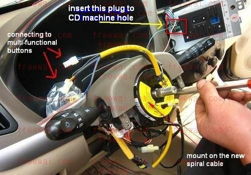steering wheel multi-functional (audio control) switches / buttons